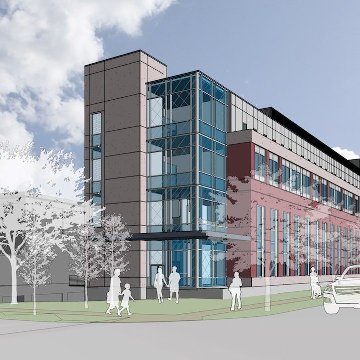 Rendering of new building